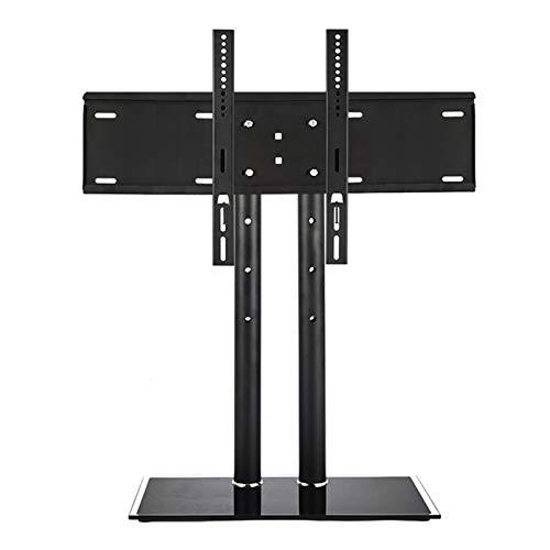 YUNZHI Soporte de TV de Sobremesa Móvil para Pantallas Planas Curvas de 32-65 Led OLED LCD Plasma Altura Ajustable.vesa 60x40mm hasta 35kg,Black