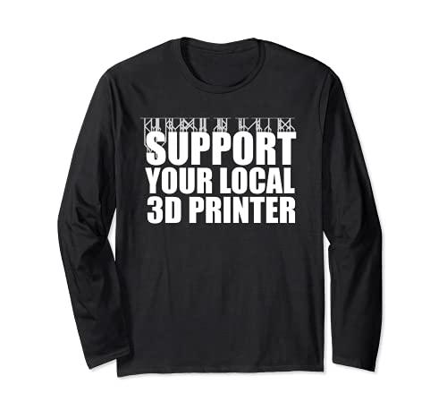 Impression 3D drôle de tshirt d'imprimante 3D de résine Pun Manche Longue