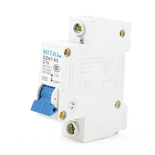 X-DREE Mini disyuntor DZ47-63 de Proetction de sobrecarga eléctrica 60A 1P (Mini disjoncteur DZ47-63 de Proetction de surcharge électrique de 60A 1P