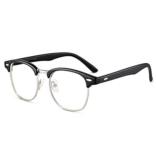 Cyxus filtro luce blu occhiali moda occhiali dormire meglio [trasparente lente] Anti affaticamento degli occhi (2-Classico nero)