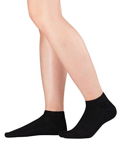 Knitido Tabi Sneaker, kurze Zwei-Zehen-Socken aus Baumwolle, Größe:43-46, Farbe:Black (101)