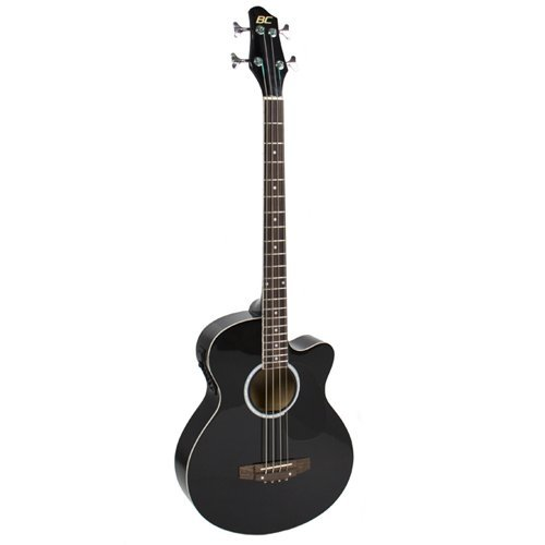 Best Choice Products Acoustic Electric Bass Guitar - Full Size, 4 String, Fretted Bass Guitar - Black