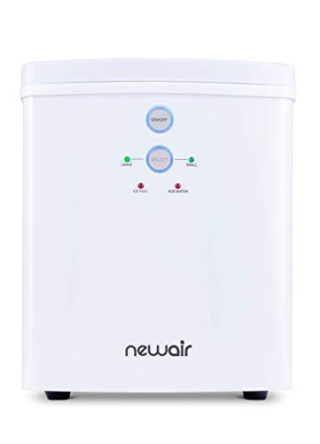 NewAir Portable Maker 33 lb 2 Ice Size Bullets Daily, Perfect Machine for Countertops, NIM033WH00, White (Renewed)