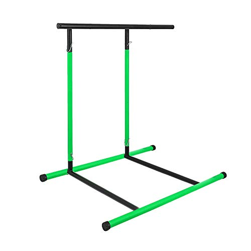 Popsport 330LBS Pull Up Dip Station Power Tower Station Multi-Station Power Tower Workout Pull Up Station with Carry Bag for Home Fitness (Green)