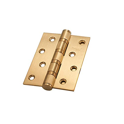 LOKIH Hinge Face Frame Cabinet Cupboard Door Hinges, Quiet Soft Close Technology for Easy Installation,Heavy Duty Steel 100mm/4Inch,Thick:15mm,1 Pcs,Golden