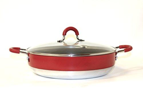 Callaway - Cacerola con tapa baja, 30 cm, color rojo