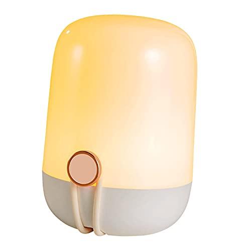 LOVIVER Lampada da comodino moderna a luce notturna con maniglia Lampada da comodino a LED Lampada da tavolo Lampada da comodino dimmerabile Decorativa