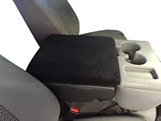 Auto Console Covers- Compatible with the Ford F-150 Truck 2002-2019 Center Console Armrest Cover Fleece. Black