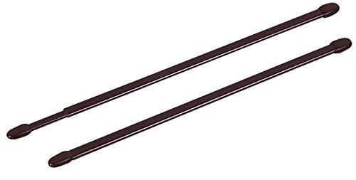ATELIERS 28 Tringle Extensible Ovale Marron - Longueur 50 à 80 cm - Vendu par 2