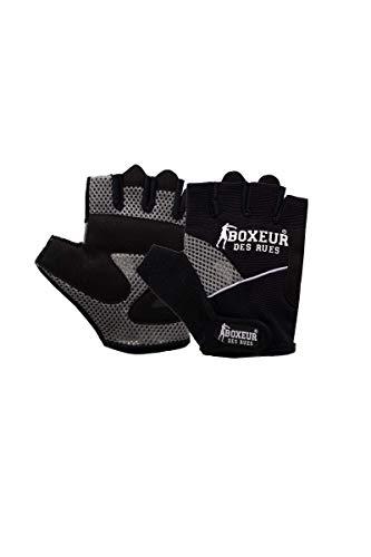 BOXEUR DES RUES - Guanti Neri Sollevamento Pesi E Fitness, Unisex, Black, S/M