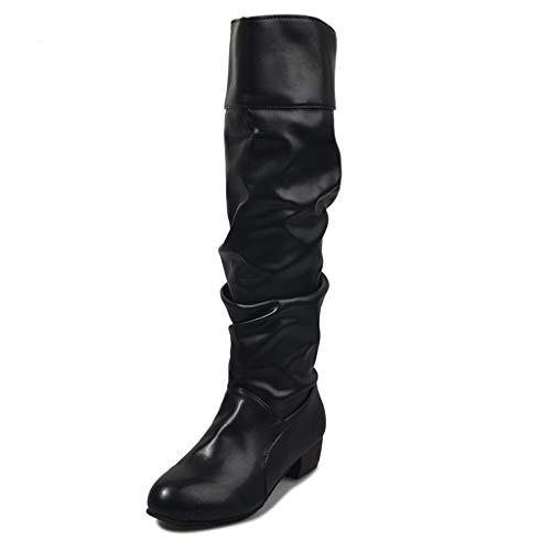 UMore Damen Winter Schneeschuhe Martin Stiefel,Arched Support Warm Snow Boots,Schneestiefel Damen Gefüttert Wasserdicht rutschfeste Und Strapazierfähige Flache Stiefel