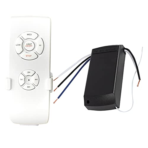 FDKJOK Ventilador de mano Control Remoto 4 Temporización Inteligente Universal Ventilador de Techo Control Remoto Inalámbrico Kit de Control Remoto para Casa Oficina Hotel (220V)