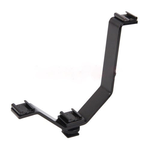 Gadget Place 3-Shoe Bracket for Canon Rebel T6s T6i T6 T5 EOS 80D 1300D 1200D 760D 750D