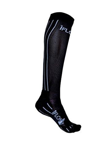 iFLOW Unisexe Pro Performance Chaussettes de Compression Noir 35-38
