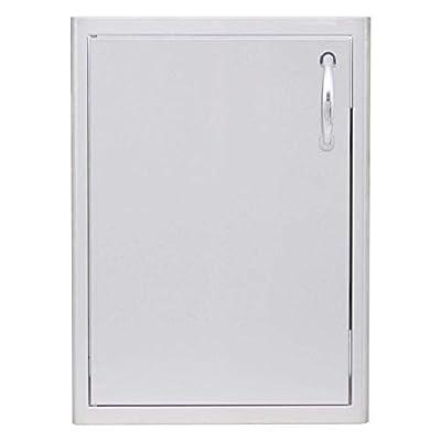 Blaze Outdoor Kitchen Vertical, Left Top Corner Hinged 21-Inch Single Access Door (BLZ-single 2417-LH), Stainless Steel