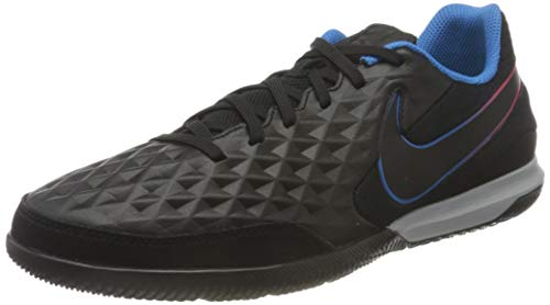 Nike Legend 8 Academy IC, Scarpe da Calcio Unisex-Adulto, Black/Black-Siren Red-lt Photo Blue-Cyber, 44.5 EU