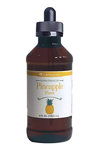 LorAnn Pineapple Super Strength Flavor, 4 ounce bottle - Includes a Child Resistant threaded Glass Dropper