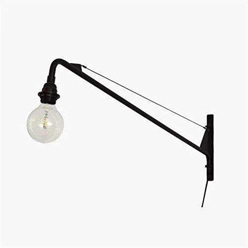 Mode smeedijzeren schommel wandlamp modern design wandlamp industriële wind retro wandlamp licht rail kanaal lange stang cantilever lamp