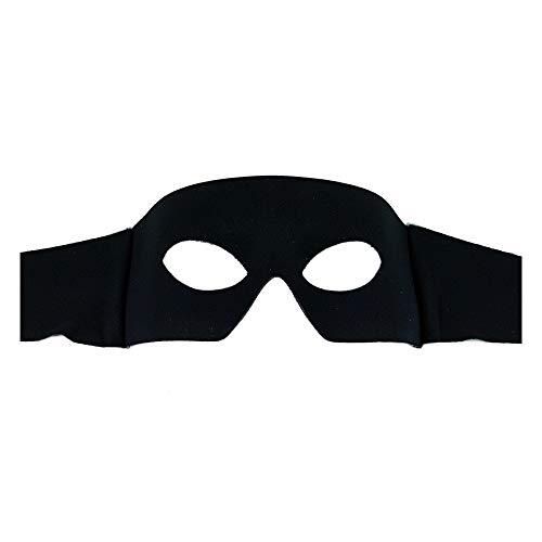 Samantha Peach Men's Italian Masquerade Masks (Zorro) Black