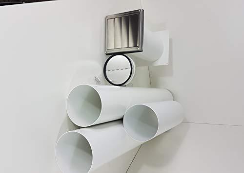VentilationNord Mauerkasten NW 150 Dunstabzug Teleskop Rohr mit Rohrset und Bogen S2-R-MKWSKQLE-BDSI