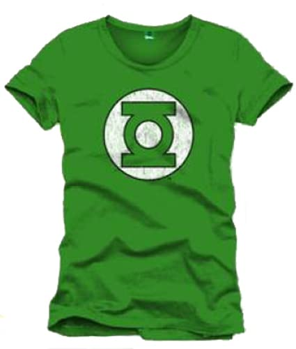 Green Lantern Logo Camiseta, Verde, XL para Hombre