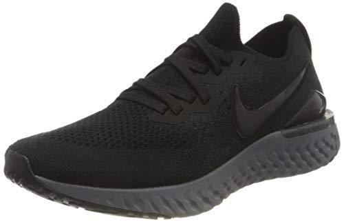 Nike Epic React Flyknit2, Scape per Sport Outdoor Donna, Nero (Black/White/Anthracite 001), 41.5 EU