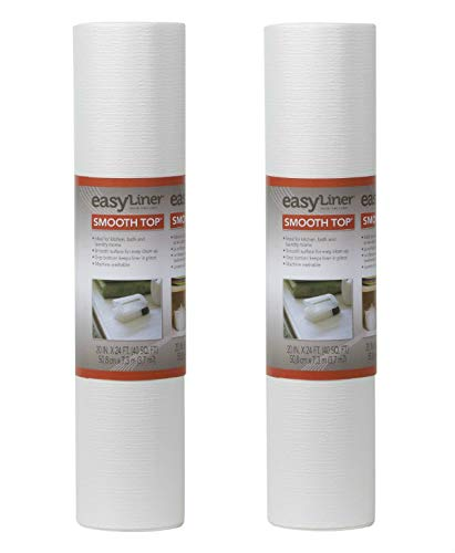 Duck Smooth Top EasyLiner, 20-inch x 24 Feet x 2 Rolls, White