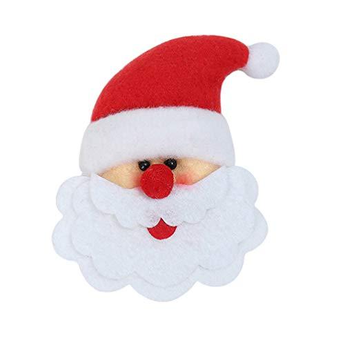 Amosfun Christmas Santa Claus Refrigerator Fridge Magnets Refrigerator Sticker Christmas Kitchen Decorations Party Favors Bag Fillers