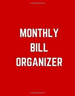 Monthly Bill Organizer: family organizer expense tracker notebook bill Colorado tracker bill book monthly 2019-2020