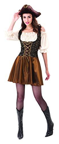 Bristol Novelty AC756 Costume de Pirate Or, Gold Rose, Size 10-14