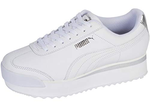 PUMA Roma Amor Leather Met Puma White/Whisper White/Silver 9.5 B (M)