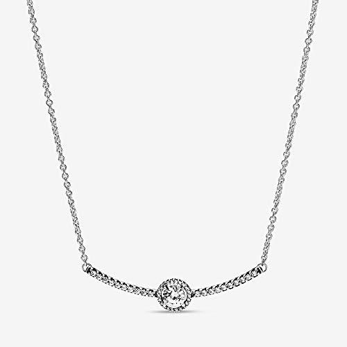 Pandora Women Silver Pendant Necklace 398490C01-45