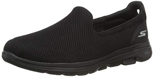 Skechers Women's GO WALK 5 Trainers, Black (Black Textile/Trim BBK), 5.5 (38.5 EU)