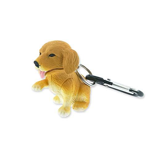 Sun Company Lampe de poche mousqueton WildLight Animal | Lampes Flash Mini Animal Porte-clés | Pour les enfants, les infirmières, le camping (Retriever)