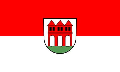 Unbekannt magFlags Tisch-Fahne/Tisch-Flagge: Durchhausen 15x25cm inkl. Tisch-Ständer