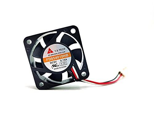 Zyvpee 40mm FD054010HB 5V 0.19A 3Wires 3Pin 4cm gran volumen de aire ventilador de placa base 40x40x10mm