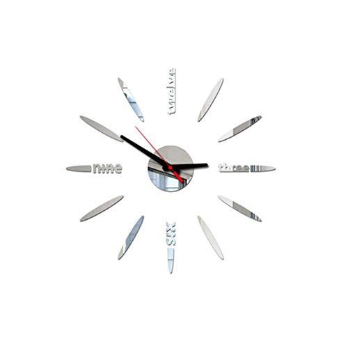 XMBT Frame Silent Quartz Clock-Moderne stumme DIY rahmenlose Wanduhr Big Watches Dekorationen Personalisierte Schlafzimmerwanduhr für Mädchen Vintage Uhr,Size:14inch