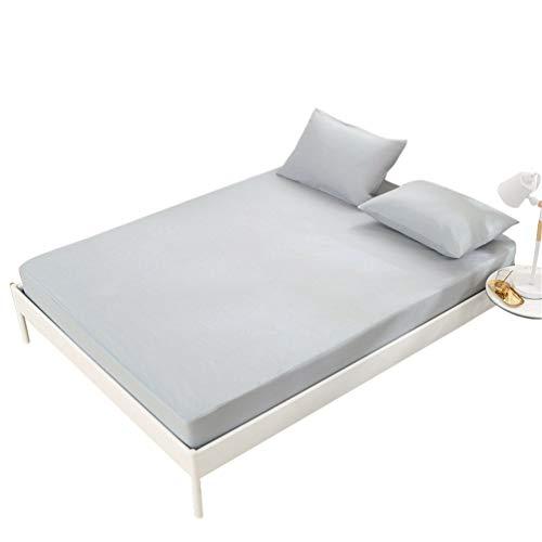 Guiran Matratzenüberzug Wasserdicht Spannbetttuch Bettschutz Spannbettlaken Inkontinenz Grau 200X220+30cm