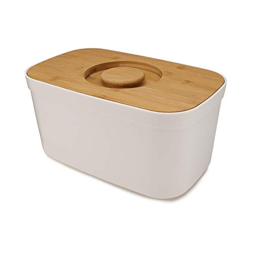 Joseph Joseph Bread Bin with Cutting Board Lid-White, One size