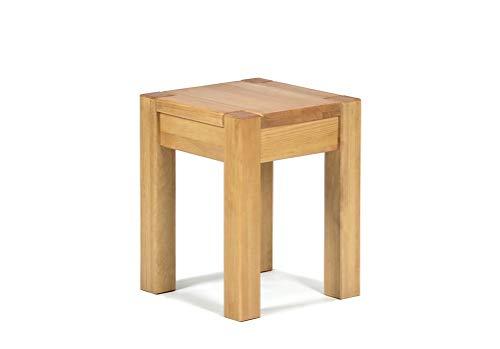 Hocker 35x35cm Rio Bonito Farbton Honig hell Sitzhöhe 45cm Pinie Massivholz Stuhl Sitzhocker Blumenhocker geölt und gewachst