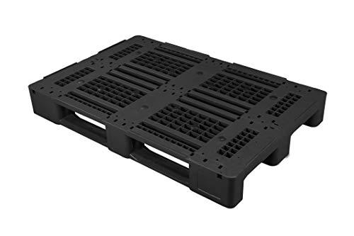 Universal Palette 1200x800 mm aus HDPE-RE Kunststoff schwarz 5er Pack