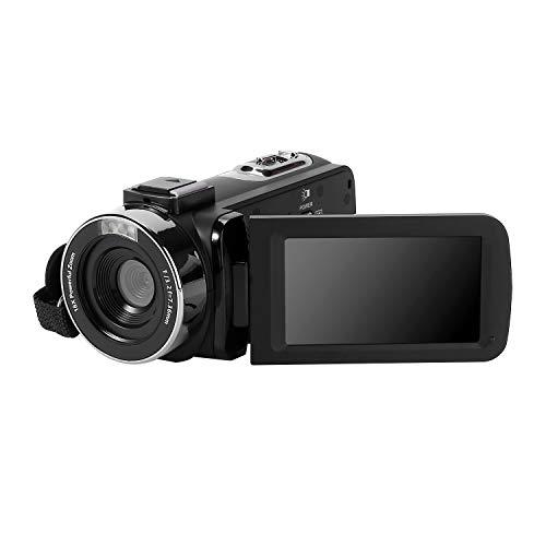 Videocamera Full HD 1080P Videocamere 24.0MP Videocamera per Vlogging Videocamera Digitale con Autoscatto con Telecomando e Microfono