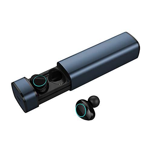 LIMTT Draadloze Oordopjes, Bluetooth Oordopjes Voor Sport, Power Display Touch-bediening, Bluetooth-Koptelefoon in Ear 5.0, Echte Draadloze Koptelefoon Met Microfoon Zwart
