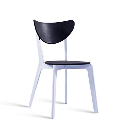C&S Plastic rugleuning kruk eenvoudige Noord-Europese huishoudelijke dressoir stoel groen blauw geel rood zwart