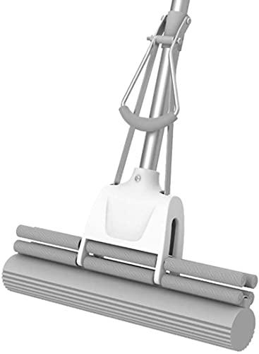 ZXCVBNN Magic Spin Microfibre Mop,Telescopic Mop Magic Mop Microfiber Floor Sponge MopSuper Absorbent Sponge Head for All Floor Types