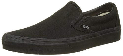 Vans Men's Embossed Suede Slip-On Skate Shoe, Black, 7 Women/5.5 Men