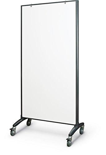 """Best-Rite 62406 Trek Mobile Double Sided Dry Erase Whiteboard Easel Room Divider, 65""""H x 34.75""""W, Frame, Black"""