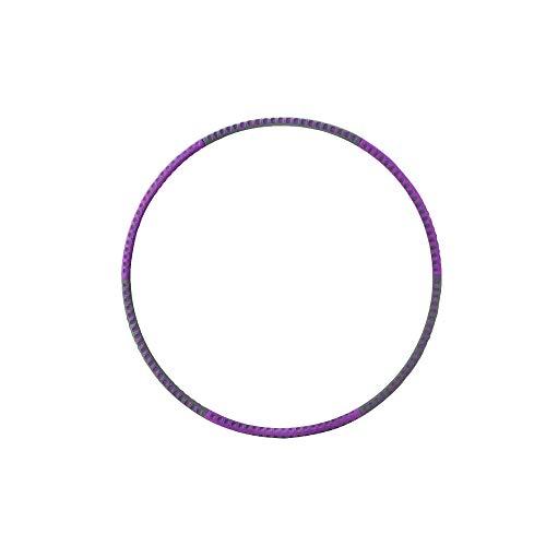Finoki Hula Hoop, Erwachsene Fitness Reifen Hula Hoop aus Edelstahlkern Schaumstoff |Φ95cm Einstellbares Gewicht (Lila)