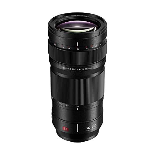 Panasonic LUMIX S PRO S-R70200E - Teleobjetivo (70-200 mm, F4.0 O.I.S. MILC 23/17, zoom 0.92 m, vídeo 4K, estabilizador óptico de 5 ejes, resistente a salpicaduras y frío) negro