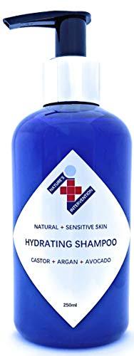 Natural CHAMPÚ HIDRATANTE - ALOE VERA, MACADAMIA, AGUACATE Y ARGAN - SIN PERFUME - 250ml de NATURE'S INTERVENTION. Sin Sulfatos, Parabenos, Silicona. Concentrado, pH 5,5. 99,5% Derivado de Plantas.